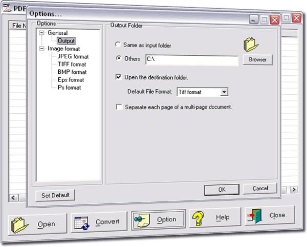 PDF to Jpeg/Jpg/Tiff/Bmps converter - standaloneinstaller.com