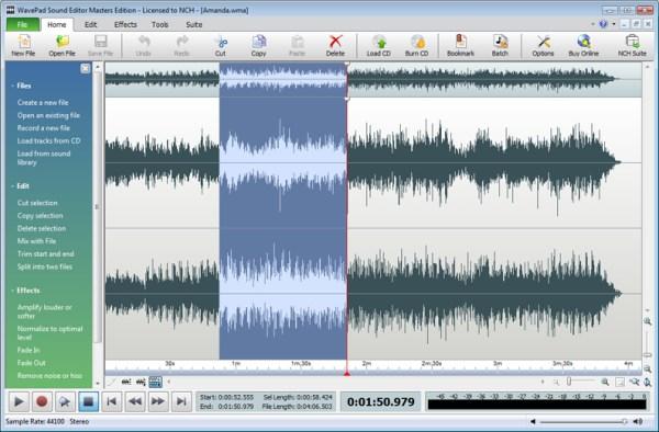 Wavepad Audio Editor - standaloneinstaller.com