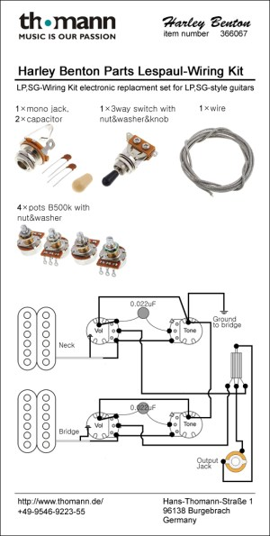 Harley Benton Parts SCWiring Kit – Thomann United States
