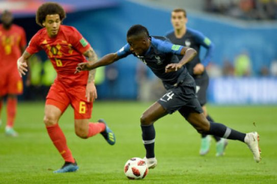 Blaise Matuidi of France in action during the 2018 FIFA World Cup Russia Semi Final match between Belgium and France at Saint Petersburg Stadium on July 10, 2018 in Saint…