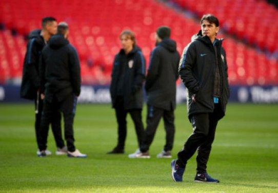 Croatia manager Zlatko Dalic (right) during the UEFA Nations League, Group A4 match at Wembley Stadium, London.