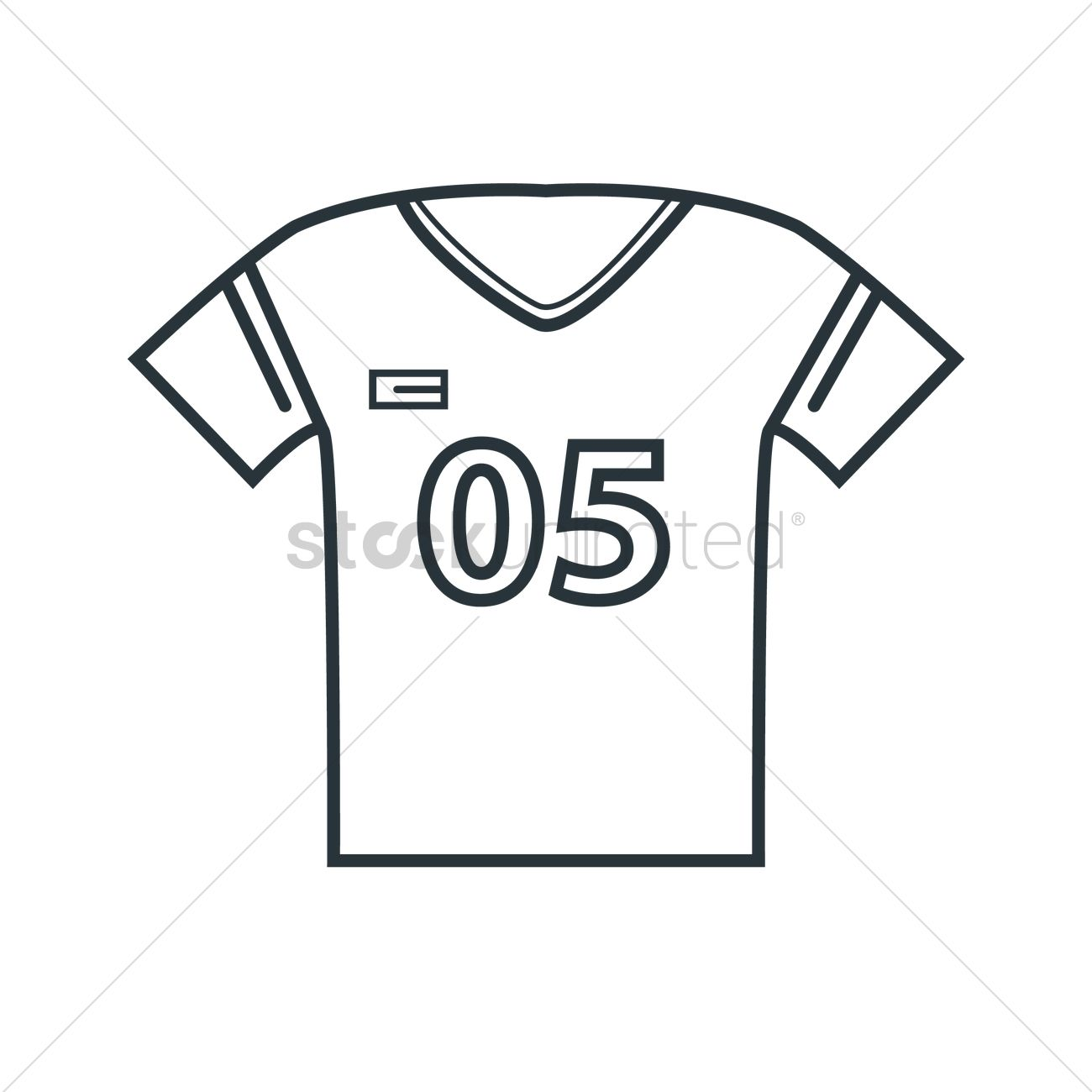 Football Jersey Vector Image
