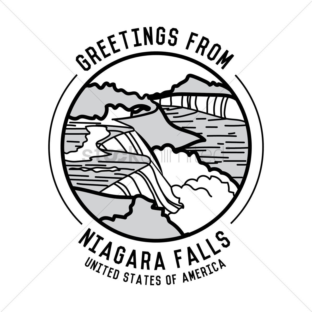 Niagara Falls Vector Image