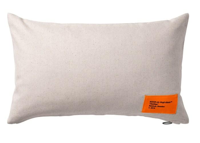 virgil abloh x ikea markerad cushion cover beige