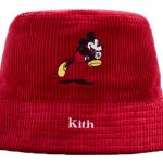Kith X Disney Mickey Corduroy Bucket Hat Red Fw19