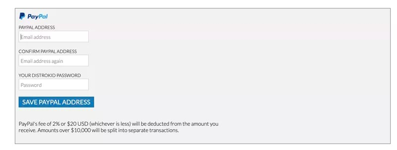 Withdrawing earnings from Distrokid