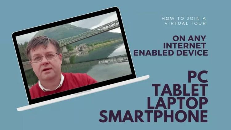 Virtual Tour on a laptop