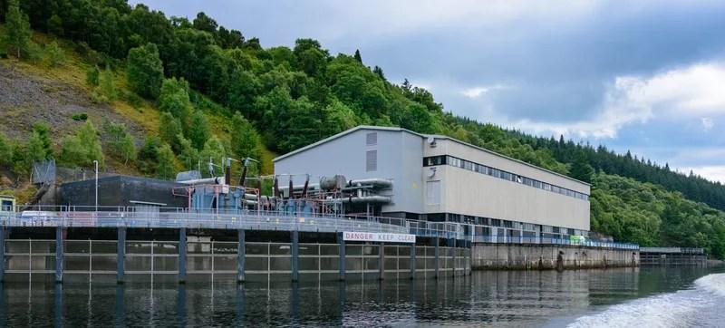 Foyers Power Station alogside Loch Ness