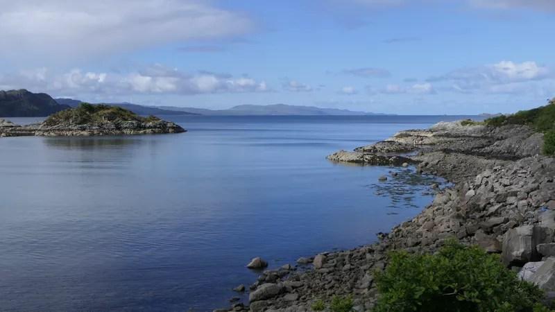 Loch Nan Uamh view towards Isle of Eigg