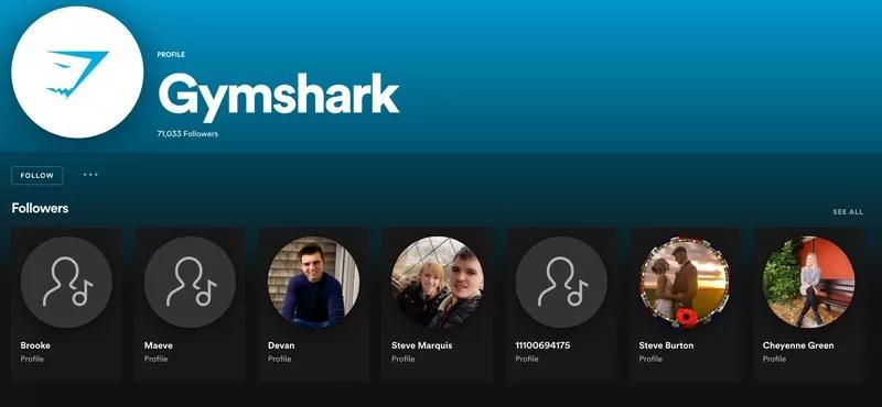 gymshark spotify social media strategy