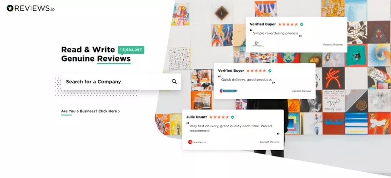Reviews.io homepage