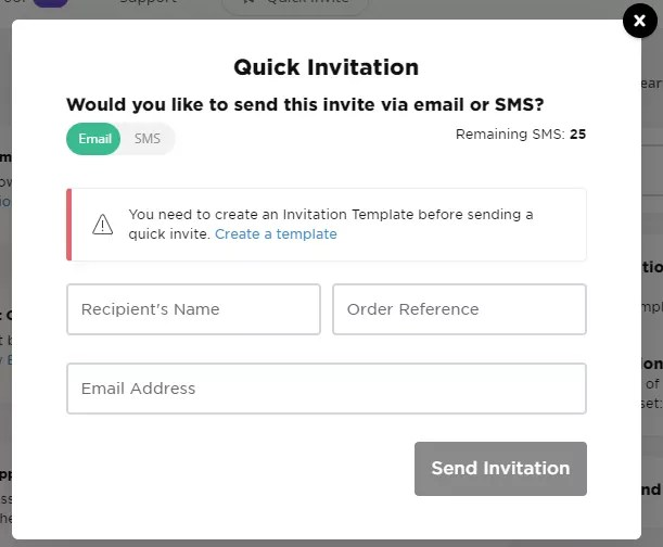 Quick Invitation UI