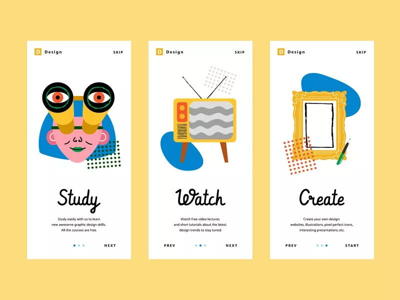mobile interface illustration