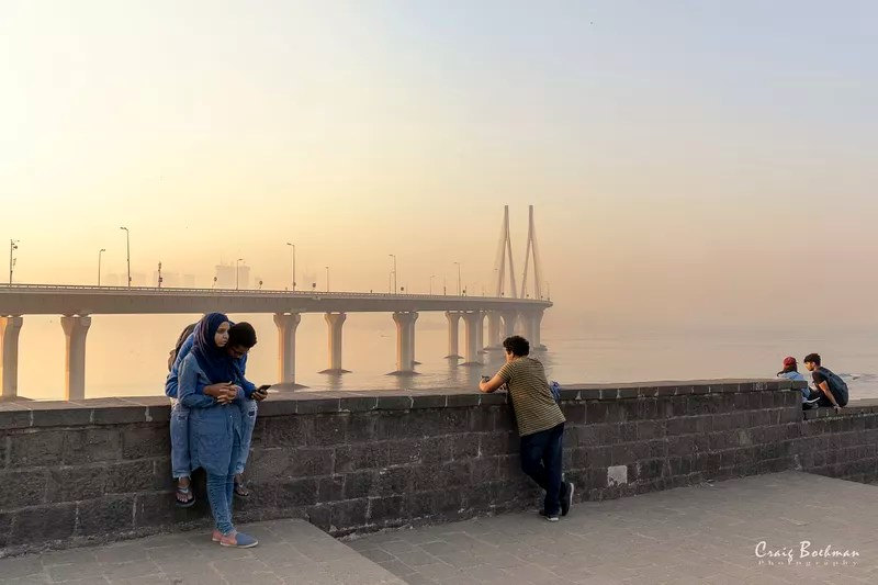 An example of candid photography at Bandra Fort