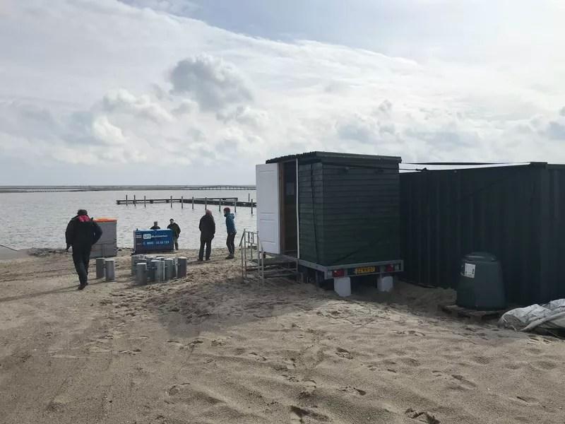 Ook op nieuw land, de Markerwadden, Ecosave droogtoiletten ! 1