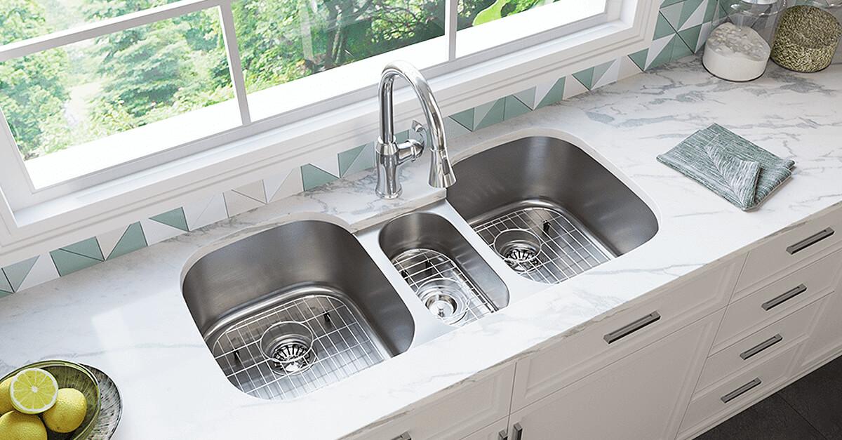 2 bowl kitchen sinks double bowls
