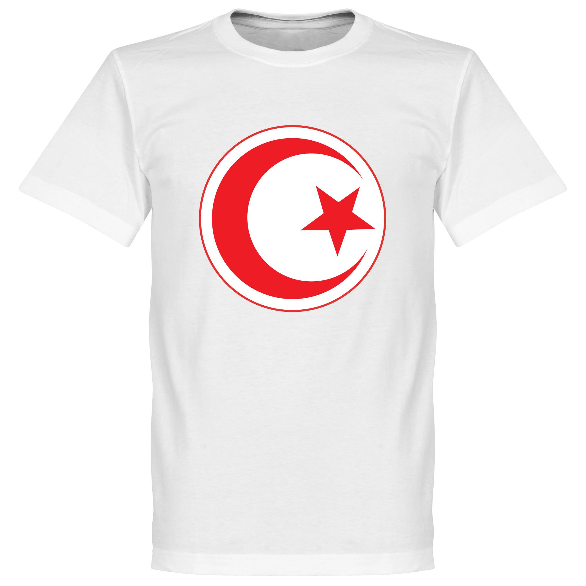 Tunisia Crest Tee - White - S
