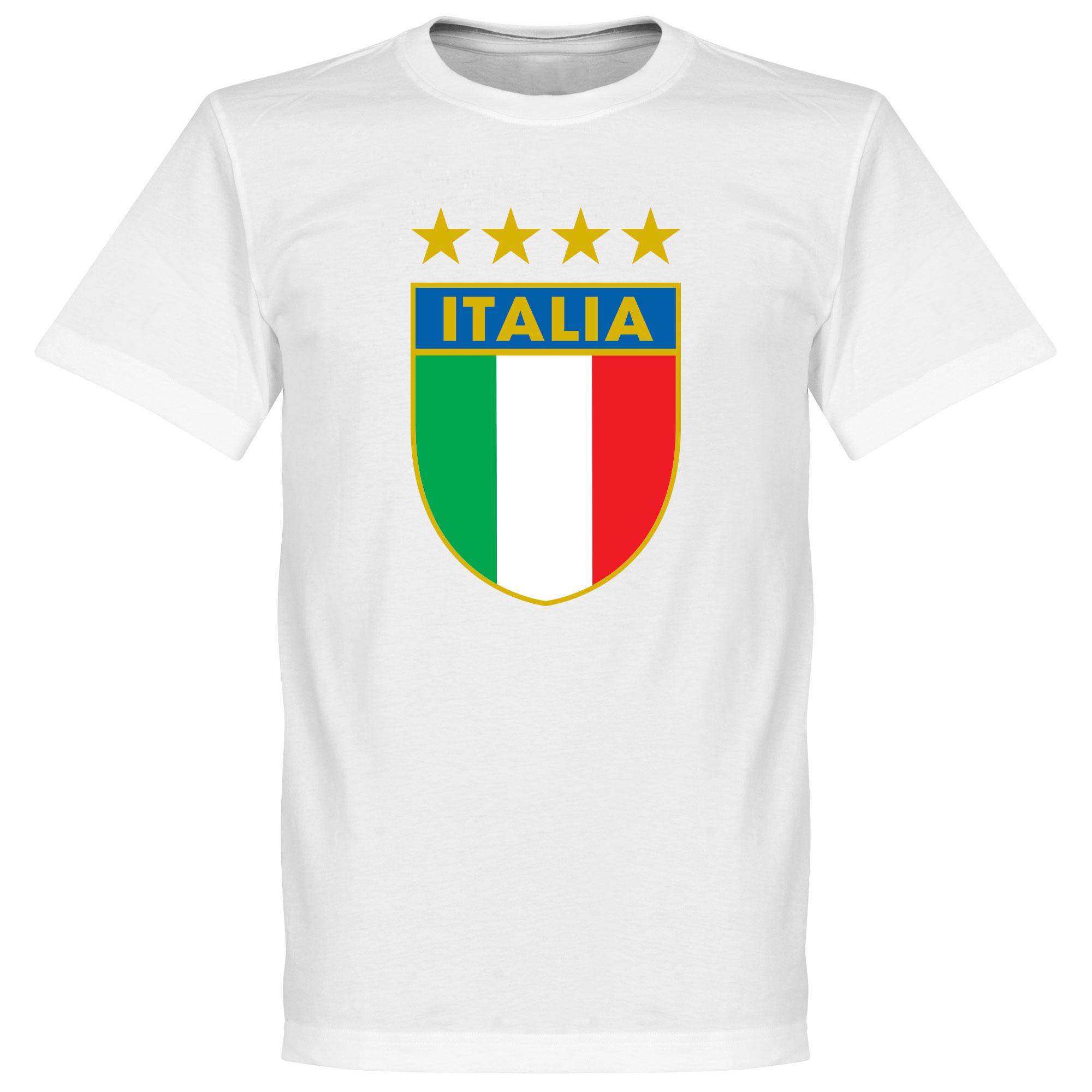 Italia Crest Tee - White - S