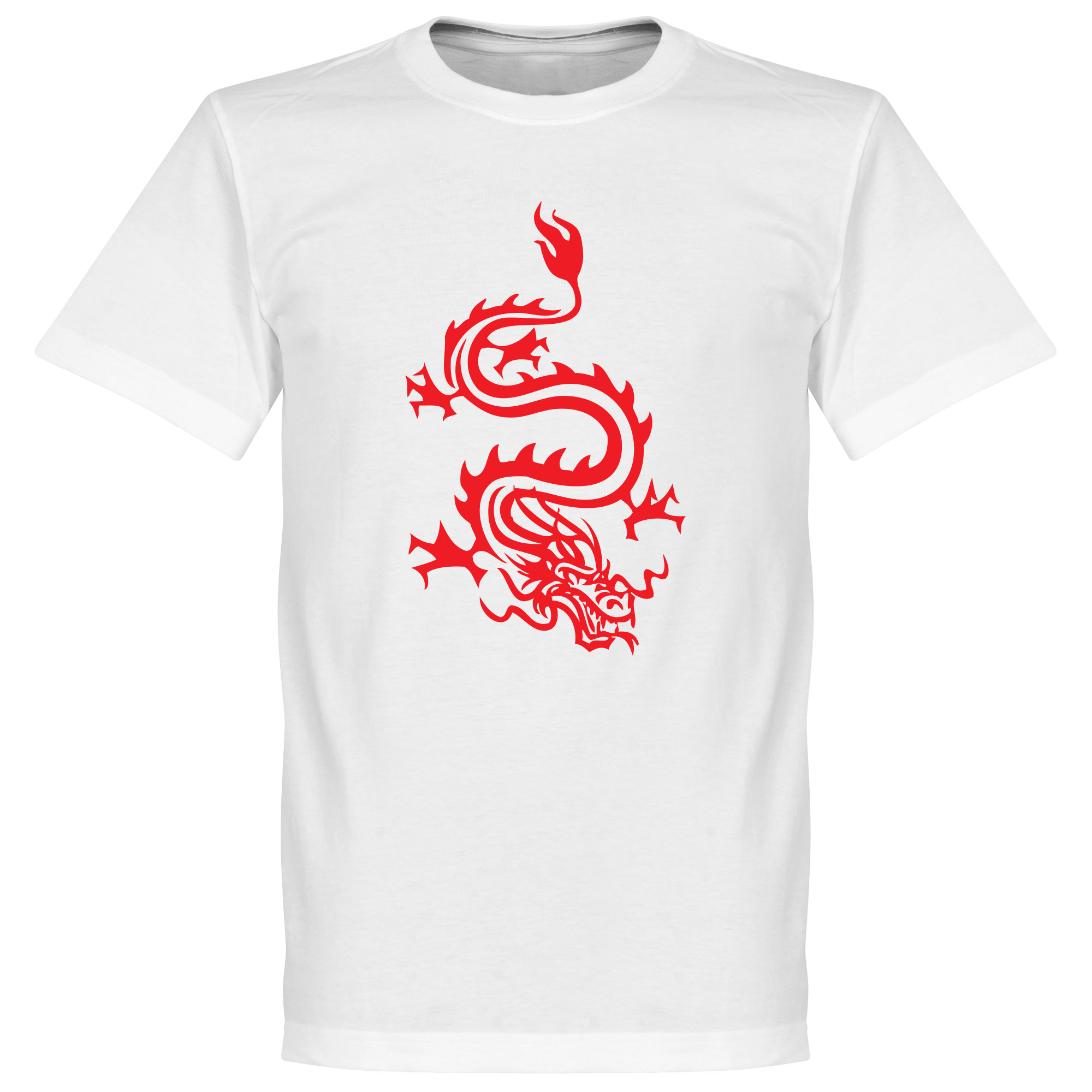 Dragon Logo Tee - White - XXXXXL