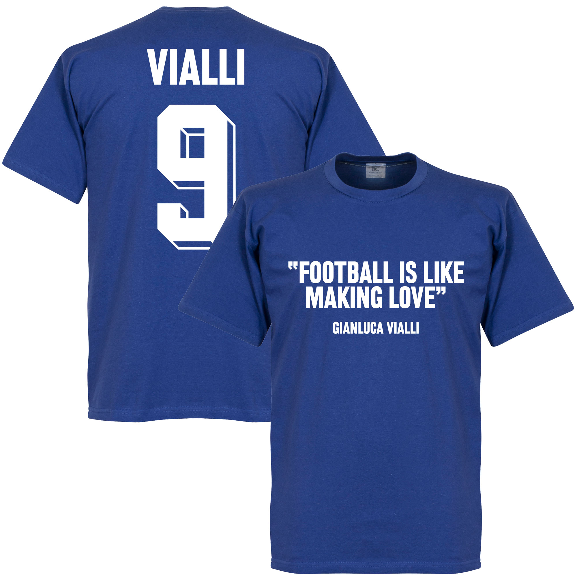 Vialli 9 'Football Is Like Making Love' Tee - XXXXL