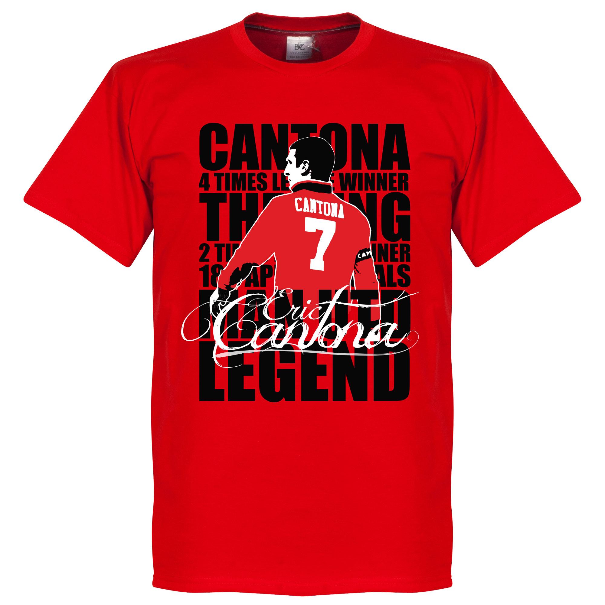 Eric Cantona Legend Tee - Red - S