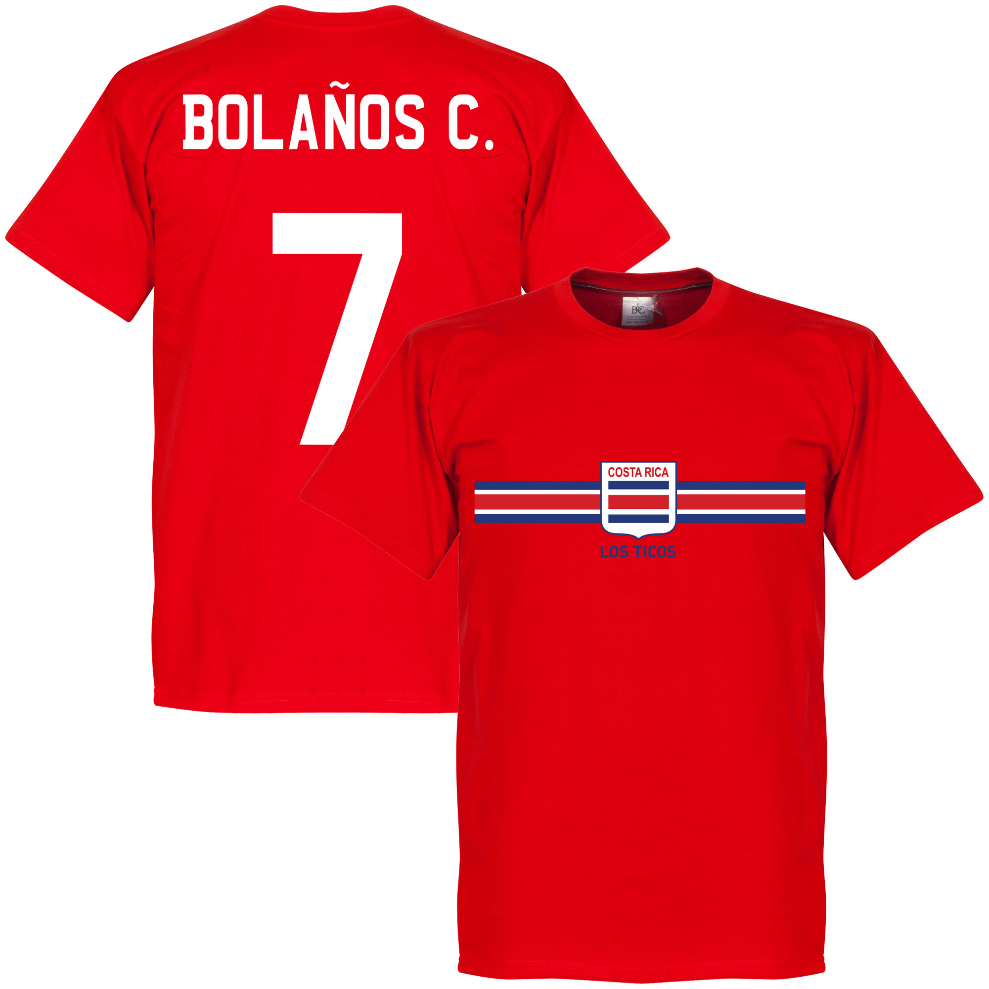 Costa Rica Bolanos C. Team Tee - Red - XXL