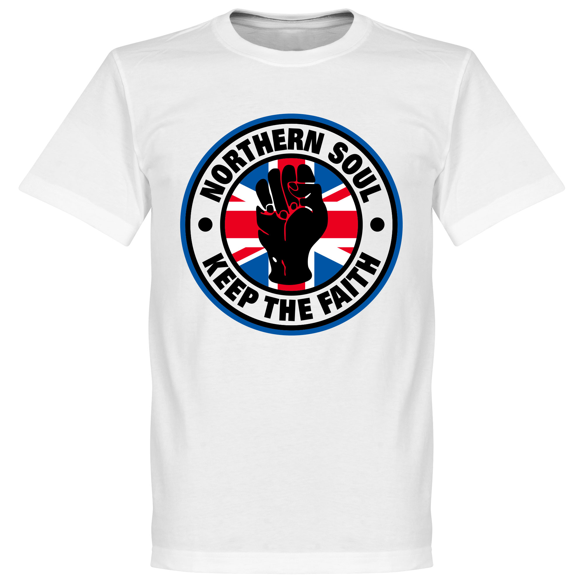 Northern Soul Union Flag Tee - White - L