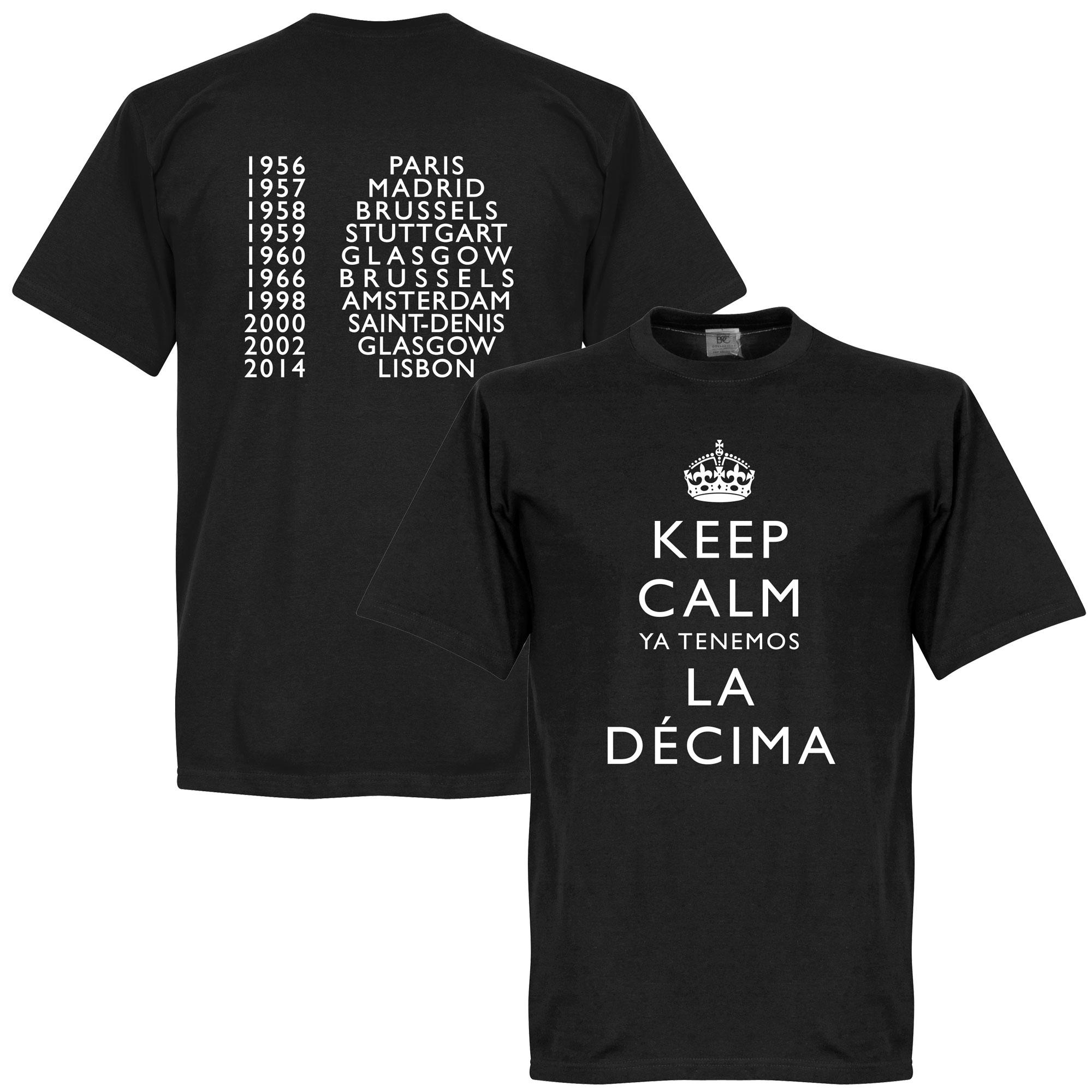 Keep Calm Ya Tenemos La Decima Tee - Black - M