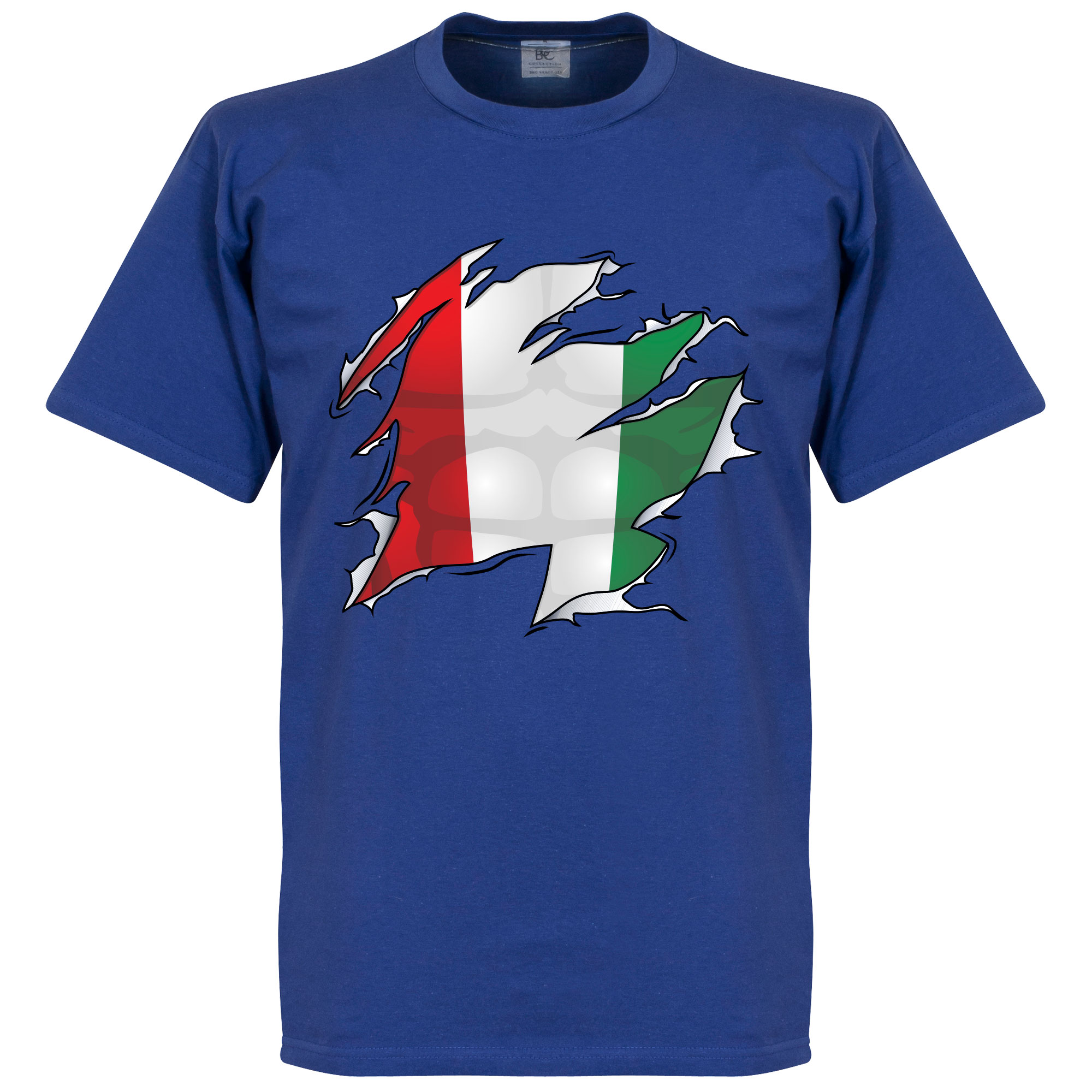 Italy Ripped Flag Tee - Royal - S