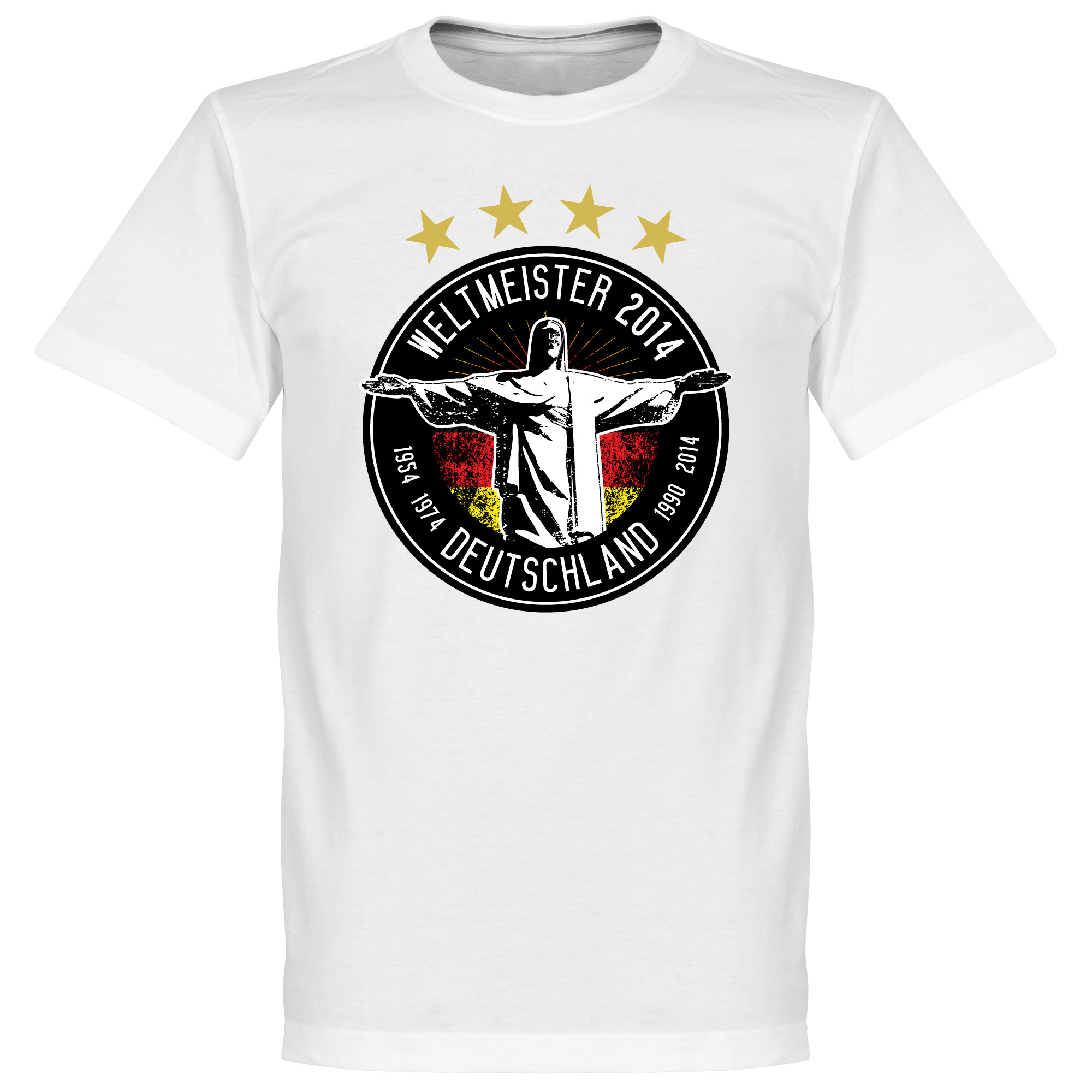 Germany 2014 World Cup Winners Tee - White - XXXXL