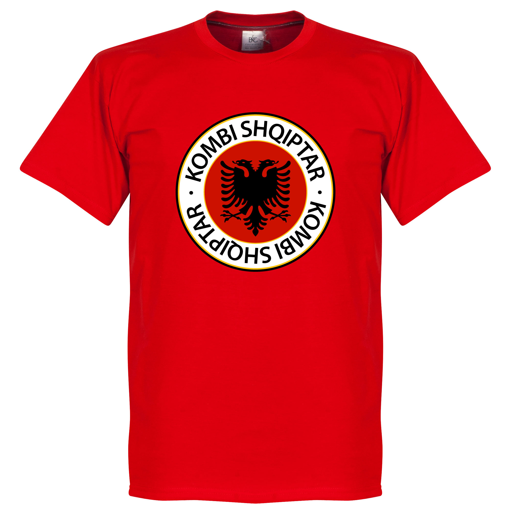 Albania Crest Tee - Red - L