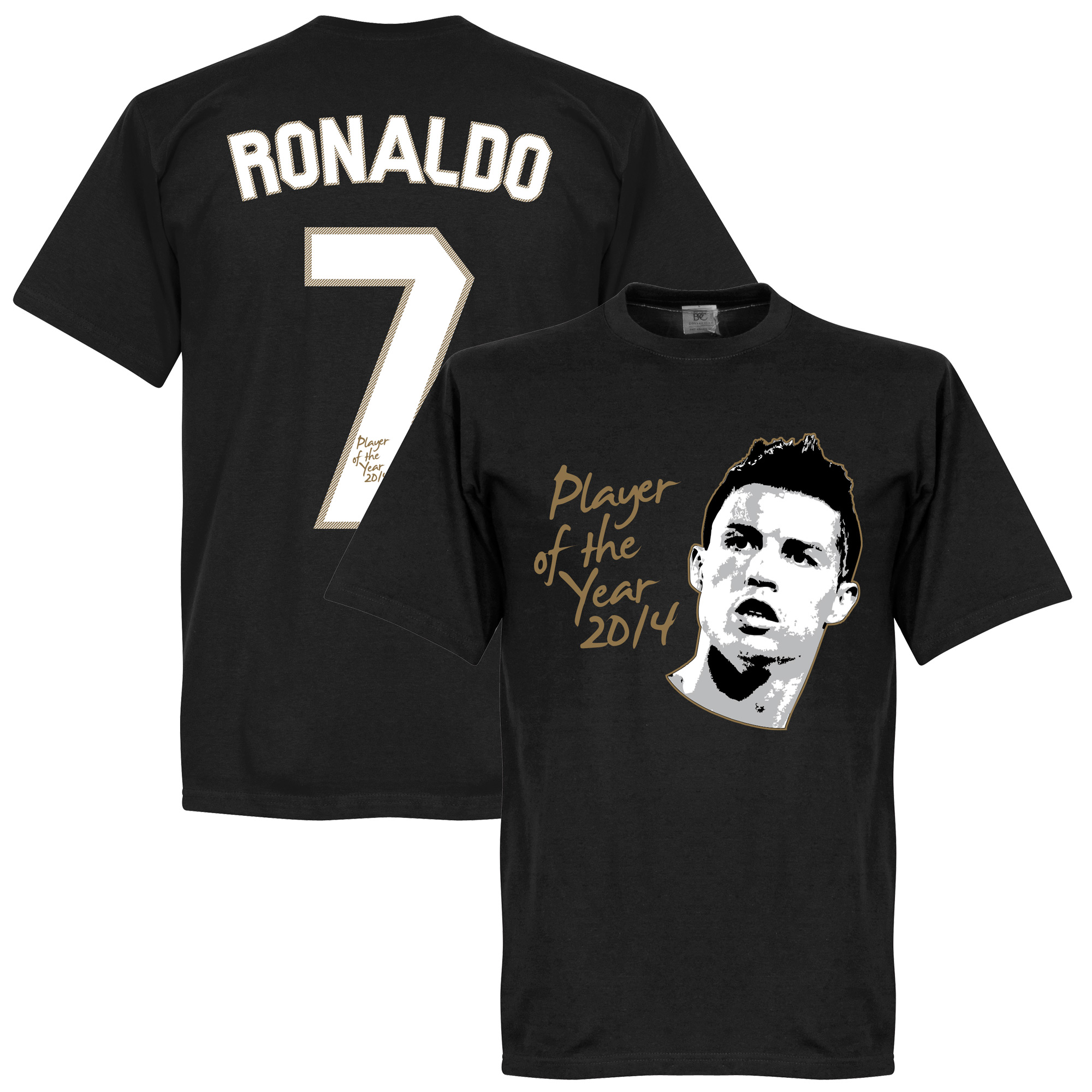 Ronaldo Player of the Year Tee - Black - S
