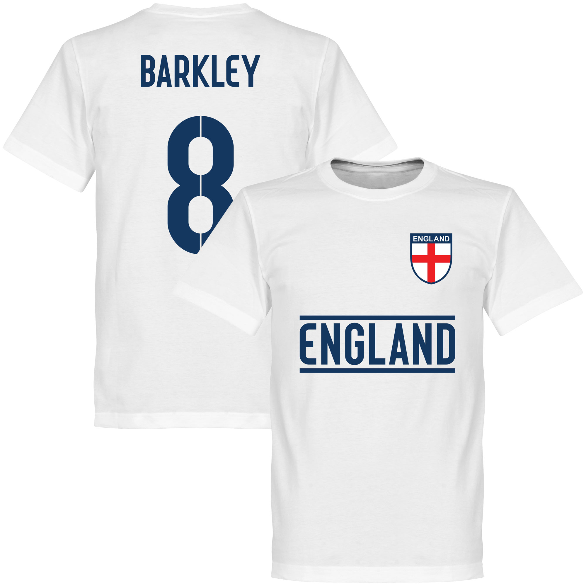 England Barkley 8 Team Tee - White - XXXL