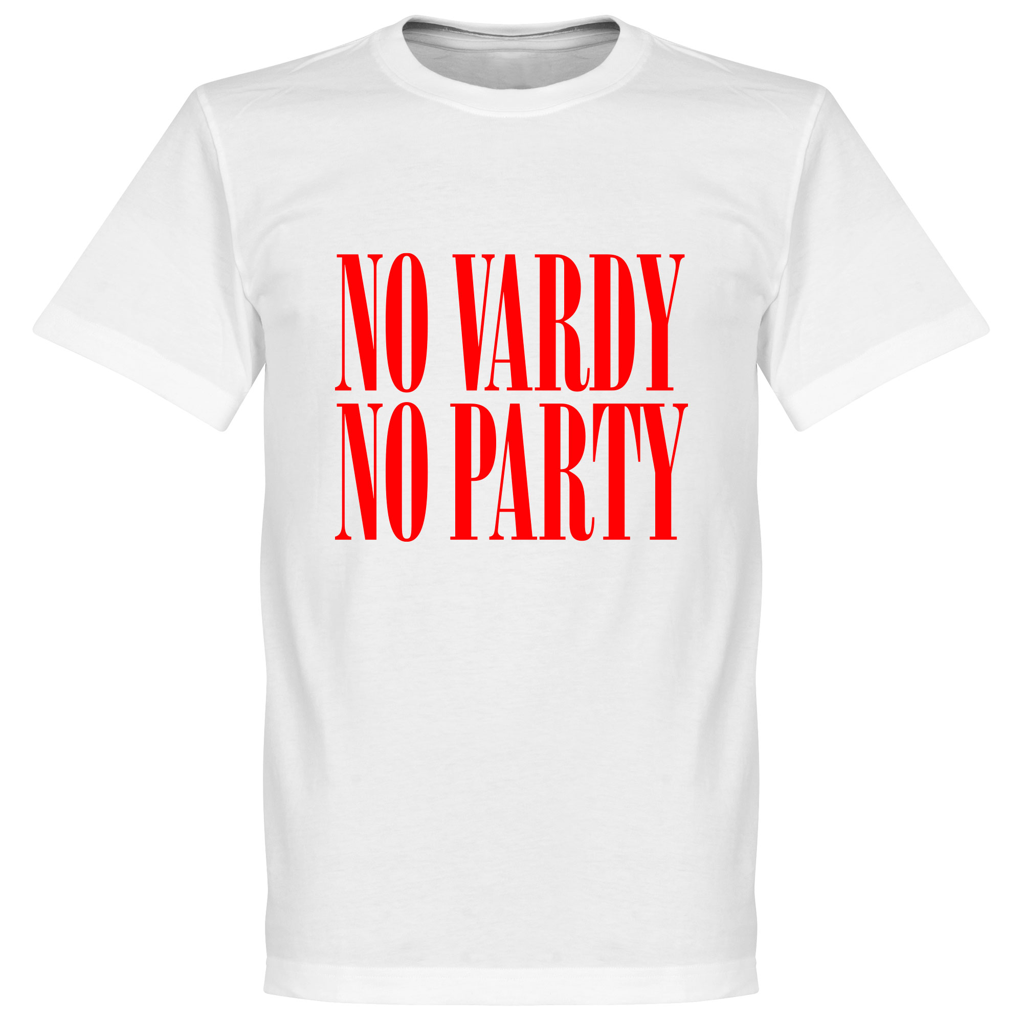 No Vardy No Party Tee - White/Red - XXXL