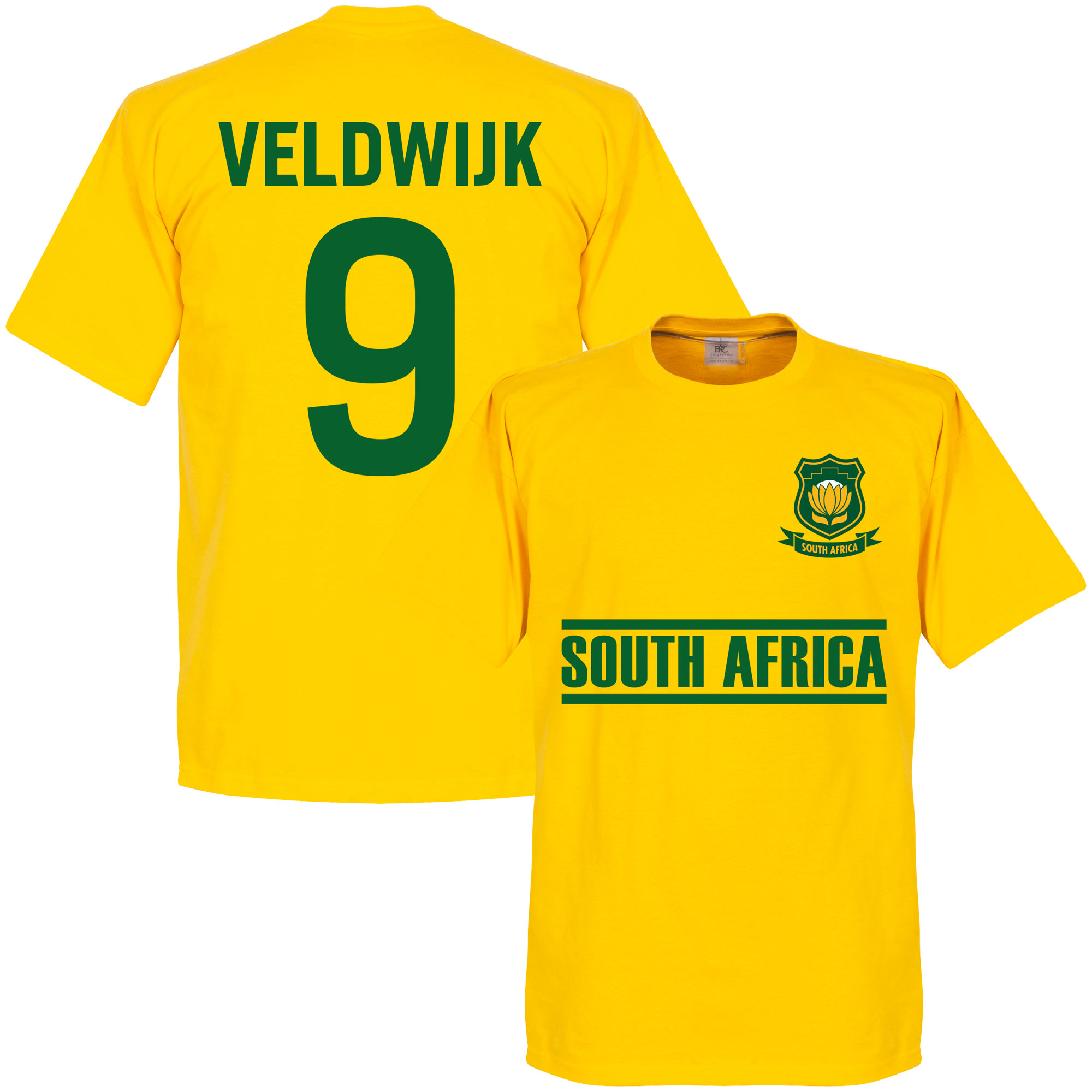 South Africa Veldwuk Team Tee - Yellow - XXL