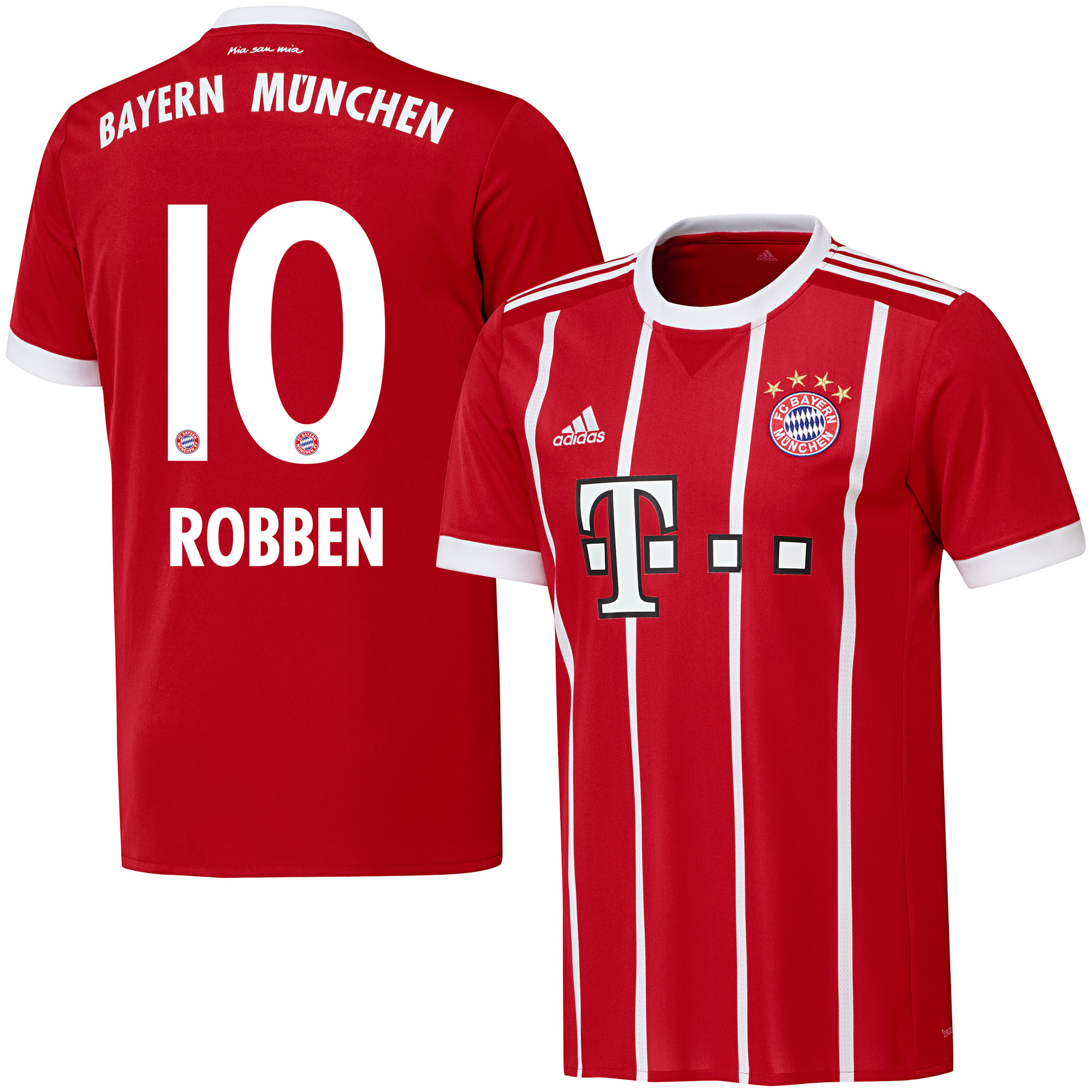 Bayern Munich Home Robben Jersey 2017 / 2018 (Official Printing) - 62