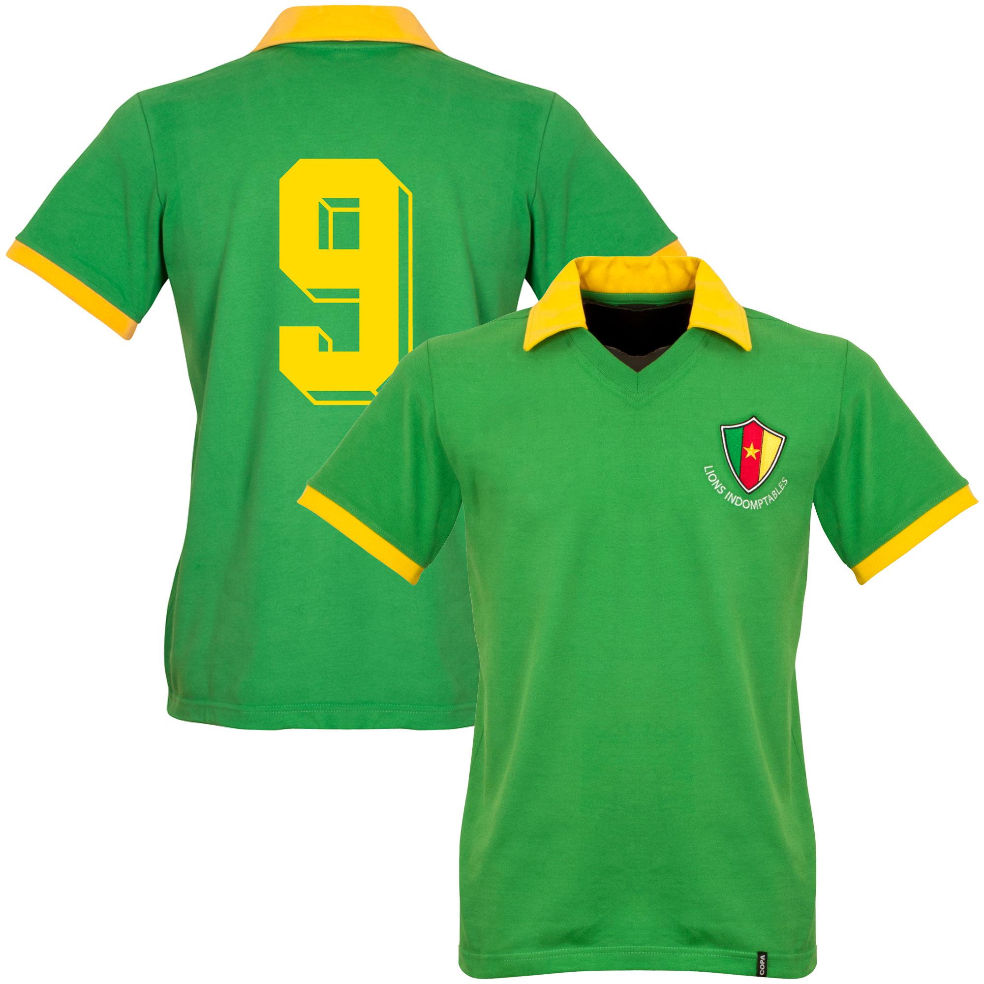 1982 Cameroon WC Retro Shirt + No.9 - M