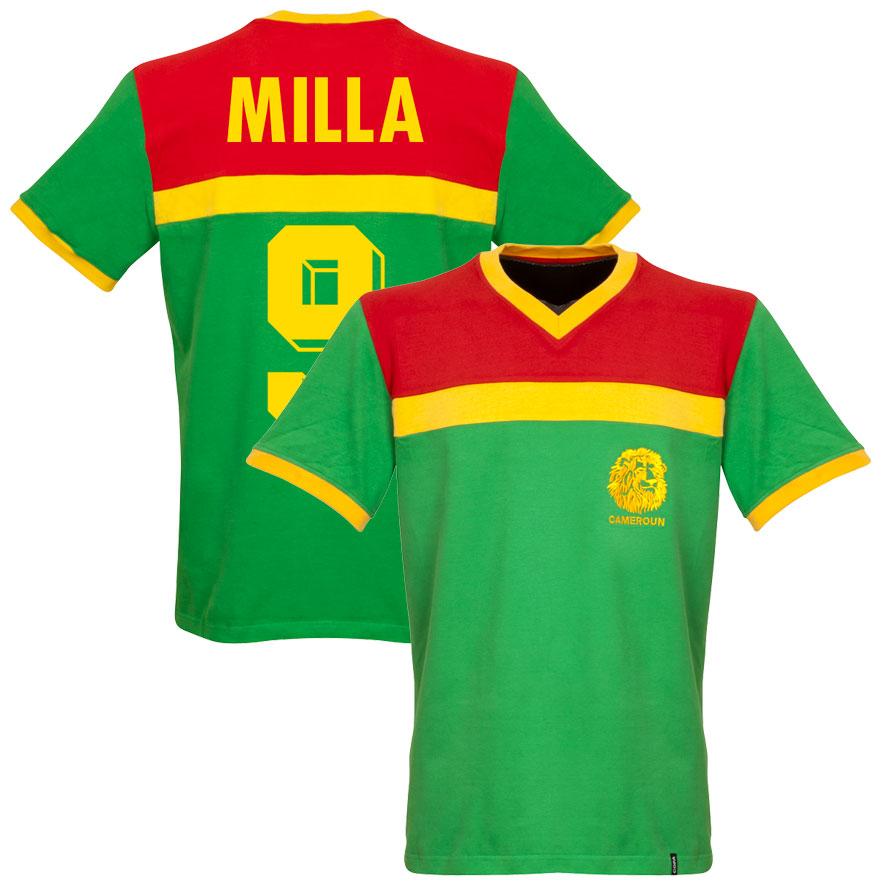 1989 Cameroon Retro Shirt + Milla 9 - L