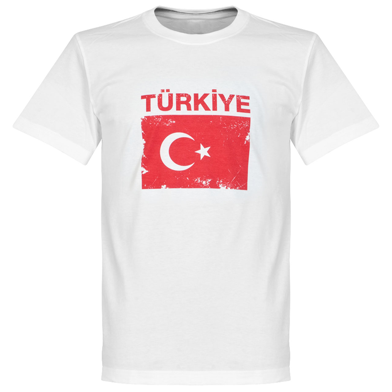 Turkey Flag Tee - White - XXXL