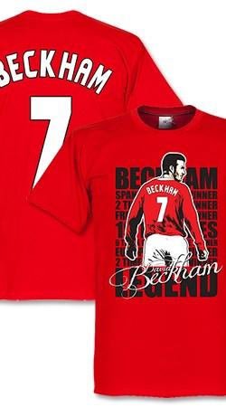 Beckham 7 Legend Tee - Red - XXXL