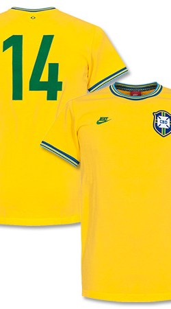 Brasil Home Retro Shirt 2014 / 2015 - XL