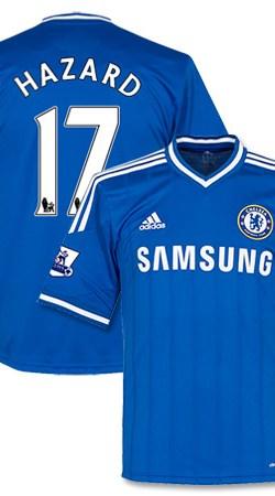 Chelsea Home Hazard Jersey + Premier League Patch Pair 2013 / 2014 - 62