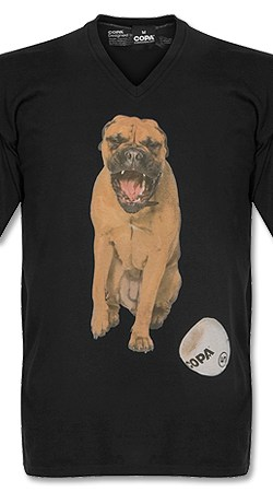 COPA Bullmastiff V-Neck Tee - Black - M