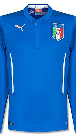 Italy Home L/S Jersey 2014 / 2015 - XXL