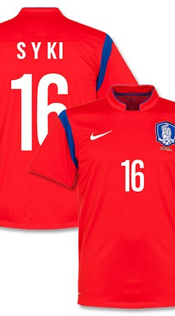 South Korea Home S Y Ki Jersey 2014 / 2015 (Fan Style Printing) - XL