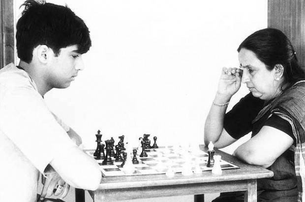 Image result for viswanathan anand with his father
