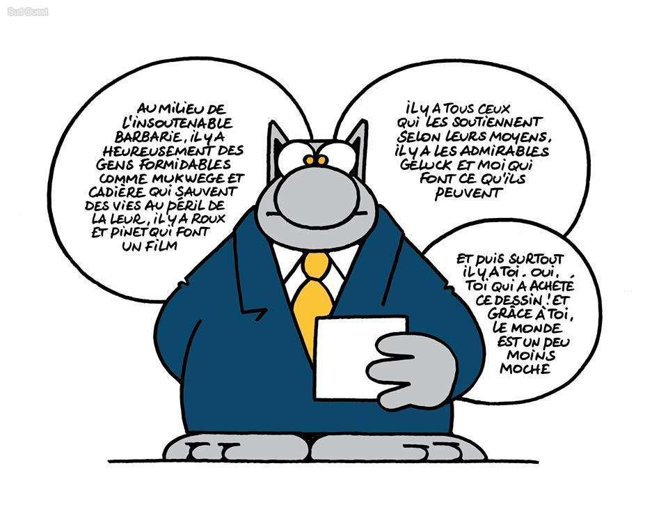 Le Chat De Philippe Geluck Milite Pour Le Projet De Film