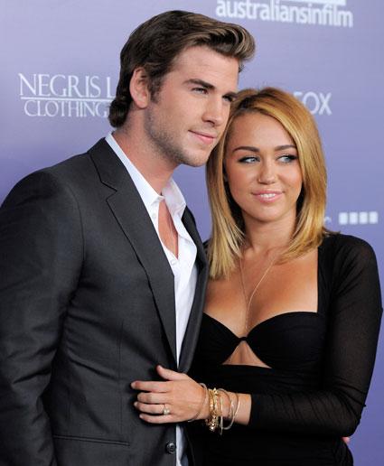 Liam Hemsworth agus Miley Cyrus