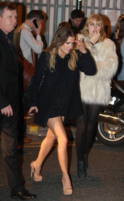 Caroline Flack outside the X Factor studios