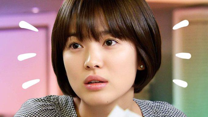 song hye kyo's short hair
